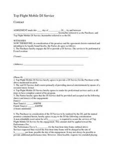 Dj Service Contract Template by 17 Best Images About Contracts On Cars