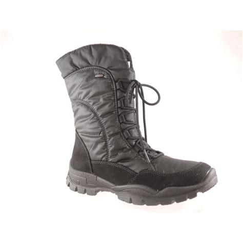 22 inch calf boots ischgl 22 69151 black tex lace up mid calf