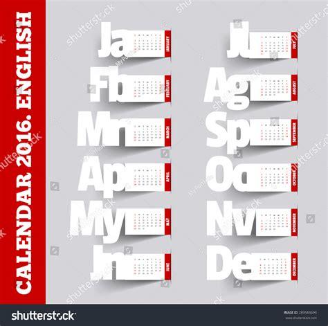 card calendar template 2016 calendar 2016 template vector calendar 2016 square