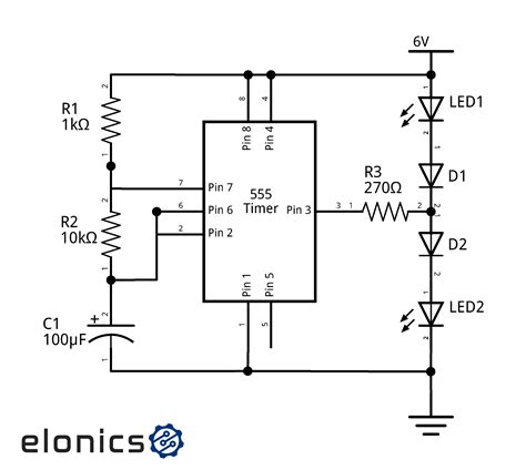 led flasher circuit schematic wiring diagrams wiring