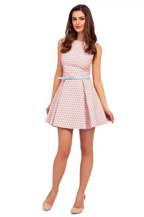 light pink skater dress light pink sleeveless raised jacquard skater dress