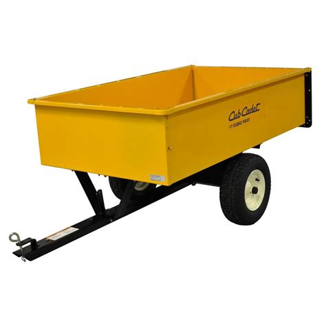 gorilla carts 1 500 lb heavy duty poly dump cart
