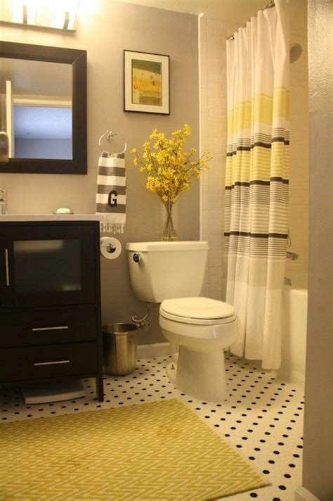 bathroom color schemes gray love this bathroom s color scheme black grey and yellow