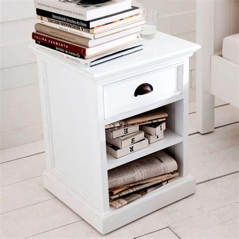 white bedside table 1 drawer and shelf halifax white bedside cabinet 1 drawer 2 shelves akd