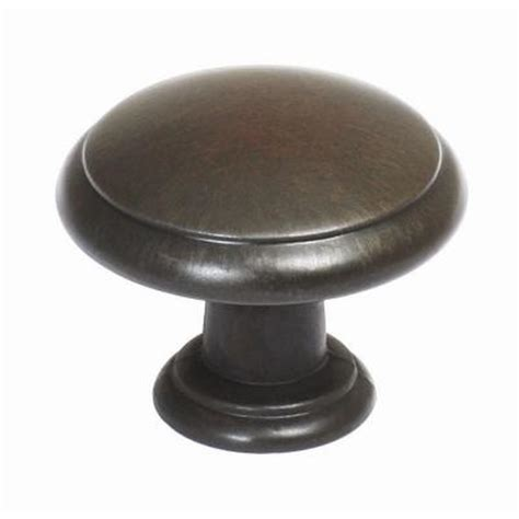 home depot kitchen cabinet knobs design house 1 3 16 in rubbed bronze cabinet knob