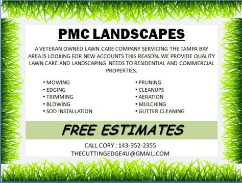 free lawn care advertising flyers and templates printable ready to
