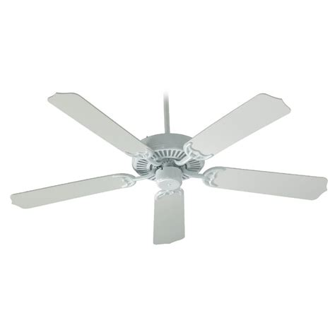quorum ceiling fans with lights quorum lighting capri white ceiling fan without light