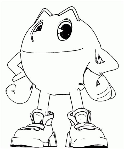 Pac Coloring Pages by Free Printable Pacman Coloring Pages Printable