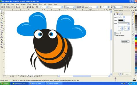 tutorial gambar kartun corel draw gambar kartun bee clipart best
