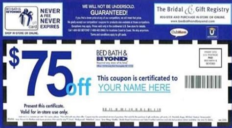 bed and bath coupons yes the 75 bed bath beyond mother s day coupon on