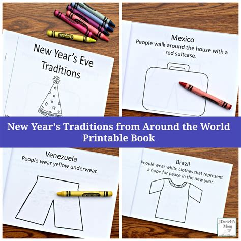 new year traditions for students around the world passport printable around the