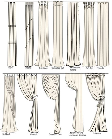 drapery types curtain ideas creative curtains pinterest different