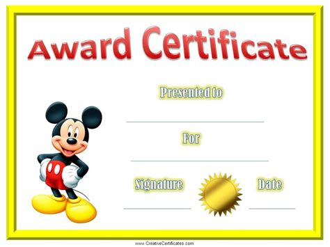 child certificate template certificate template for certificates for a a