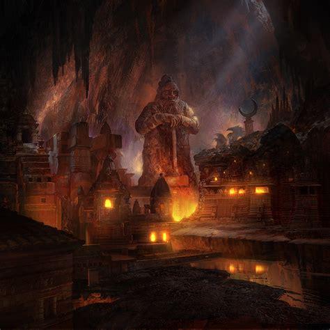 fantasy underground film room dwarven city fantasy of mining underground city