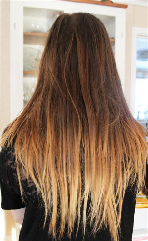 photos brown hair with blpnde ends como hacer mechas balayage paperblog
