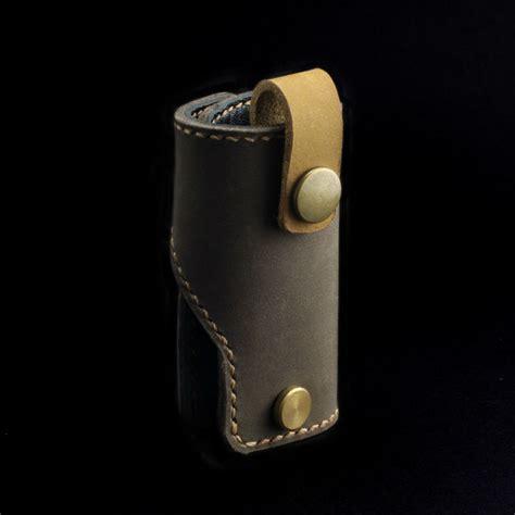 Handmade Leather Key Holder - brown nubuck leather key holder cozy handmade