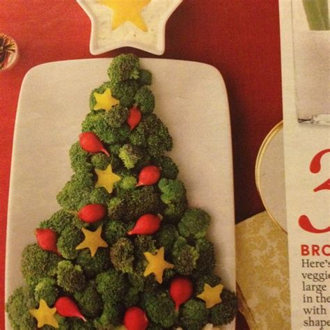 vegetable christmas tree appetizer healthy eating