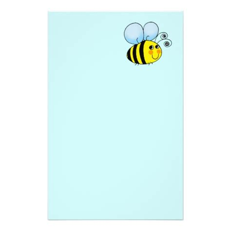 printable bee stationery bumble bee stationery design zazzle