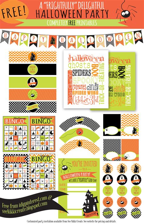 free printable halloween party decorations 27 halloween decor craft recipe and party ideas on i dig