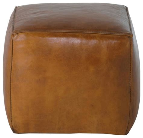 Light Brown Square Leather Ottoman Modern Ottomans And Light Brown Leather Ottoman
