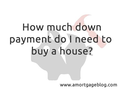 how much down do i need to buy a house this is a mortgage blog