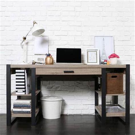 walker edison blend computer desk walker edison blend computer desk ash grey and black