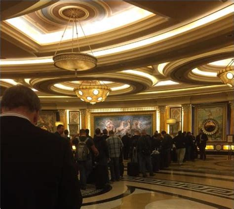 caesars palace front desk line at front desk 1 00 a m jan 6 2016 picture of