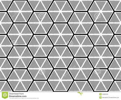 seamless hexagon pattern design seamless monochrome hexagon pattern stock vector
