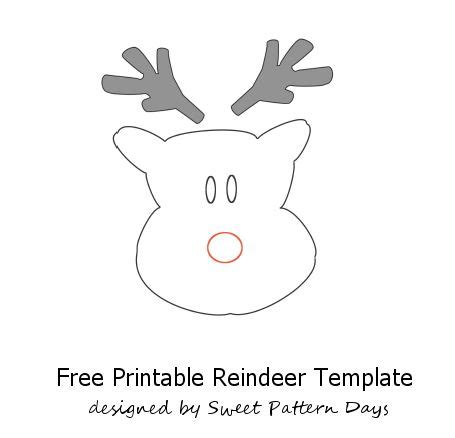 reindeer cut out templates new calendar template site