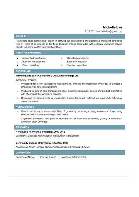 sales coordinator cv ctgoodjobs powered by career times
