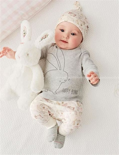 Baby S Clothes Baju Atasan Bayi Newborn Unisex bunny infant baby boy bodysuit hat romper tops 3pcs set in clothing sets