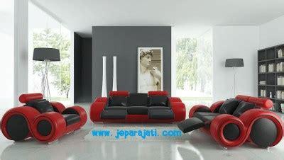 Sofa Minimalis Warna Hitam set sofa tamu minimalis merah hitam jepara jati