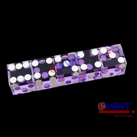 19mm Dice 5pcs purple casino standard craps dice 19mm precision