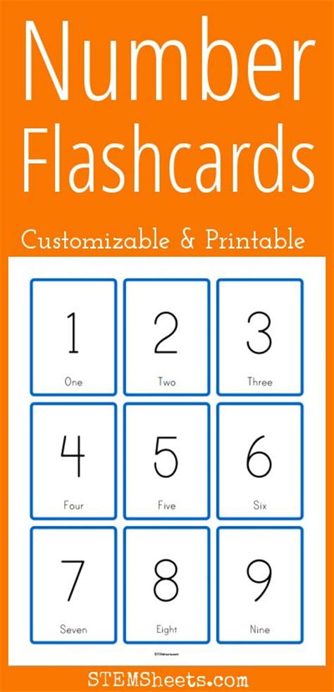printable number flashcards with pictures number flashcards customizable and printable math stem