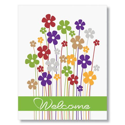 free printable birthday cards for employees business welcome card with cheerful welcome message