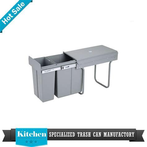 3 bin trash cabinet pull out kitchen cabinet 3 bin basket trash can sink
