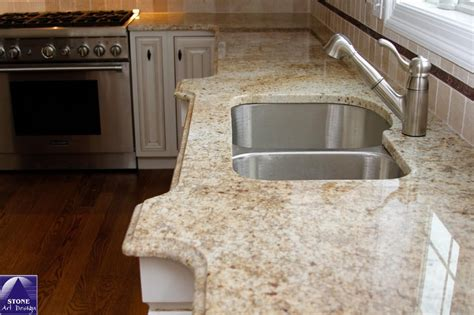 colonial gold granite kitchen colonial