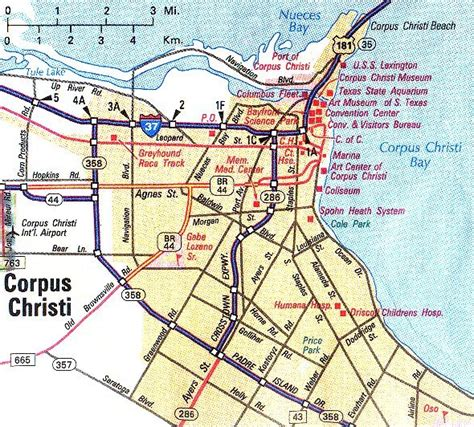 texas map corpus christi corpus christi metropolitan map