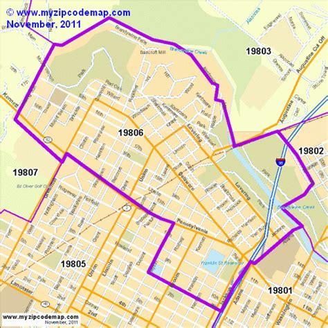 zip code map delaware zip code map of 19806 demographic profile residential