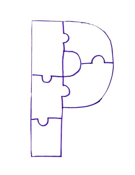Letter P Template by Letter P Is For Painted Puzzle Craft And Song Clipart
