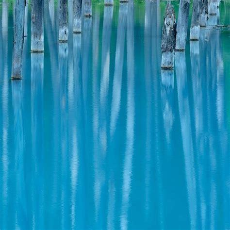 Blue Japan The Blue Pond In Hokkaido Japan
