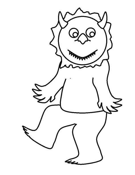 free wild things are coloring pages