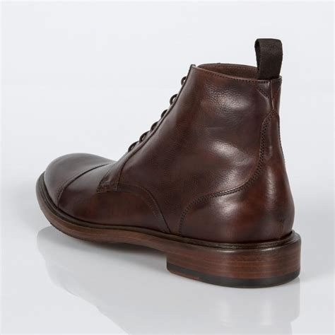 smith mens boots paul smith s brown calf leather fillmore boots in