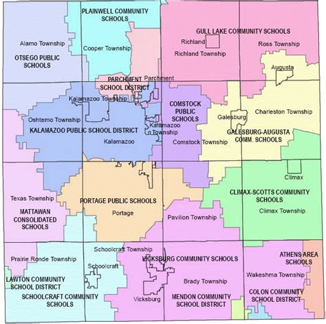 Kalamazoo County Circuit Court Search Kalamazoo County Directory School Districts Map