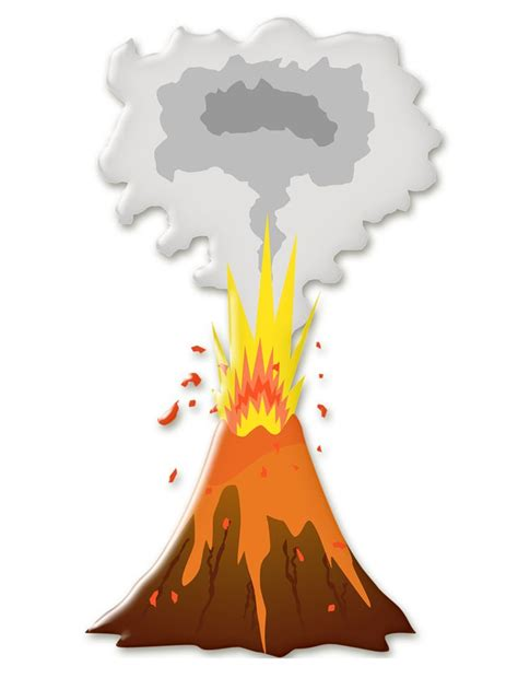 clipart volcano volcano clipart two pencil and in color volcano clipart two