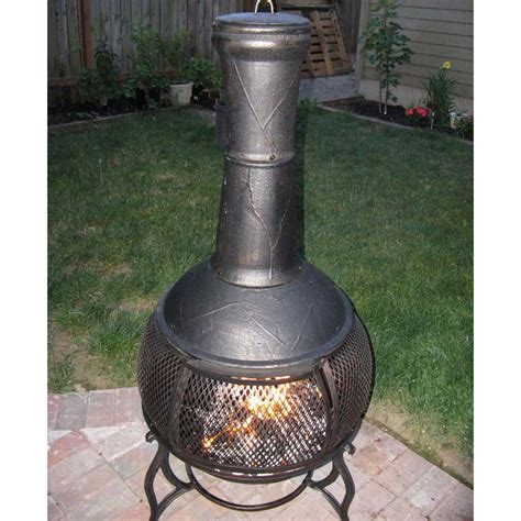chiminea at chiminea outdoor fireplace at lowes
