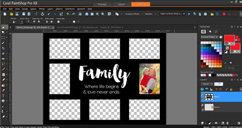 How To Use Collage Templates Corel Discovery Center Photo Template