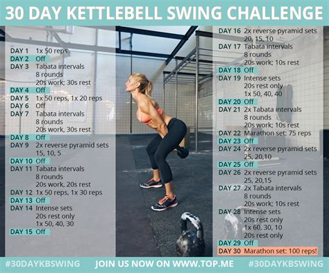 kettlebell swing workout 30 day kettlebell swing challenge fitness