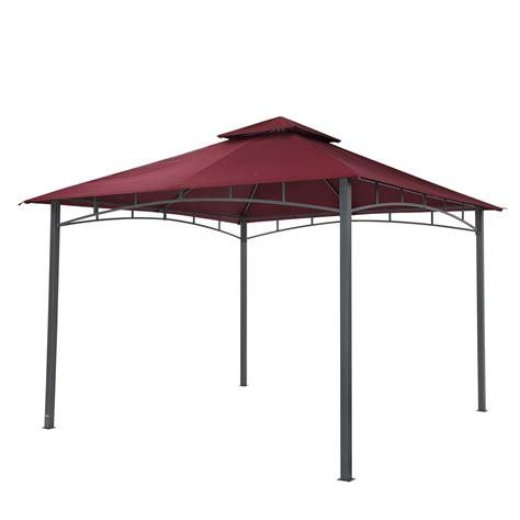 pavillon 3 x 3 tepro gartenpavillon pavillon 3x3 m waya burgund