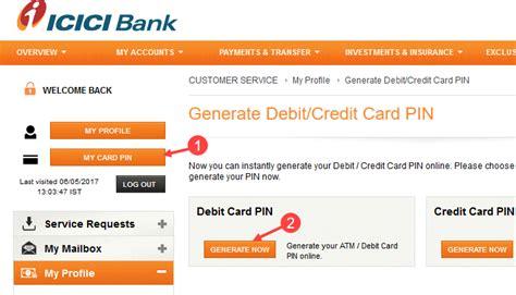 forgot my bank card pin forgot icici debit card pin how to get reset